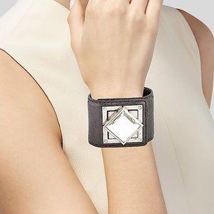Michael Kors Crystal & Leather Bracelet